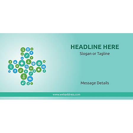 Custom Horizontal Banner, Health Icons 1