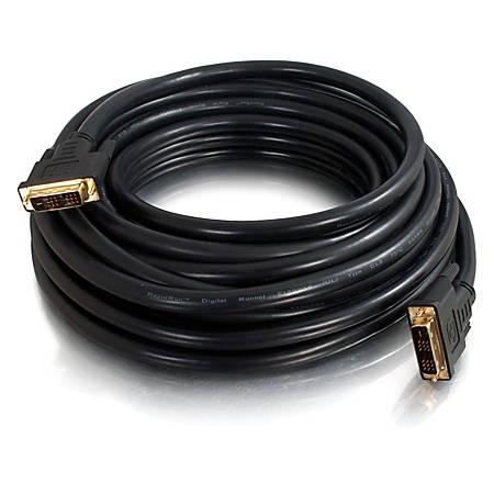 C2G 100ft Pro Series DVI-D CL2 M/M Single Link Digital Video Cable