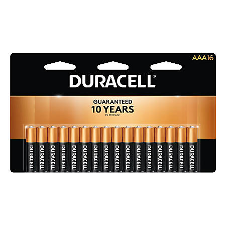 Duracell® Coppertop Alkaline AAA Batteries, Pack Of 16