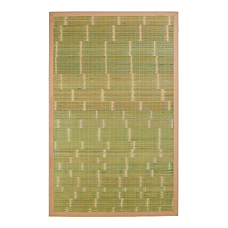Anji Mountain Key West Bamboo Rug, 5' x 8', Green