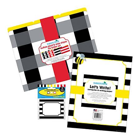 Barker Creek Multidesign Get Organized Kit, Letter Size, Buffalo Plaid