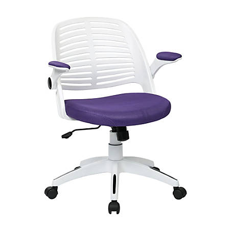 Ave Six Tyler Polyester Mid-Back Office Chair, Purple/White