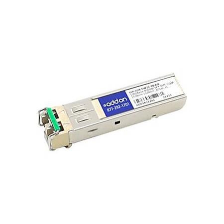 AddOn MSA and TAA Compliant 1000Base-DWDM 100GHz SFP Transceiver (SMF, 1559.79nm, 80km, LC, DOM)