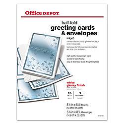 Office depot brand premium greeting cards half fold glossy 8 12 x 11 office depot brand premium greeting cards half fold glossy 8 1 m4hsunfo