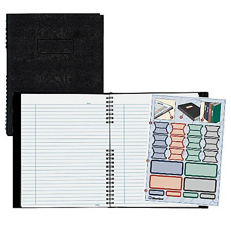 "Rediform® NotePro® Executive Notebook, 9 1/4"" x 7 1/4"", College Ruled, 150 Pages, 50% Recycled, Black"