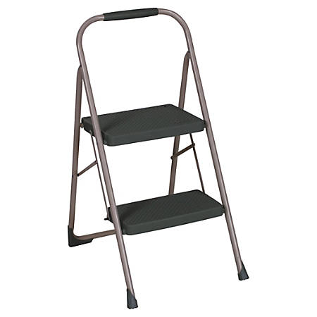 Terrific Cosco Two Step Big Step Folding Step Stool 22 4 5 Spread Black Platinum Item 652038 Pdpeps Interior Chair Design Pdpepsorg