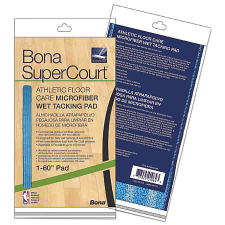 "Bona® SuperCourt™ Athletic Floor Care Microfiber Wet Tacking Pad, 60"", Light/Dark Blue"