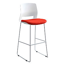 Lorell Artic Series Stack Stools WhiteRed