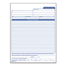 Adams Carbonless Contractors Invoices  Part  Sets By Office Depot