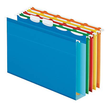 Pendaflex® Assorted Box-Bottom Hanging File Folders, Letter Size, Assorted, Box Of 20