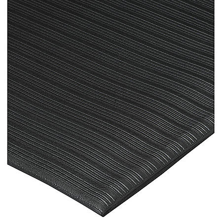 Genuine Joe Air Step Anti-Fatigue Mat, 3' x 12', Black