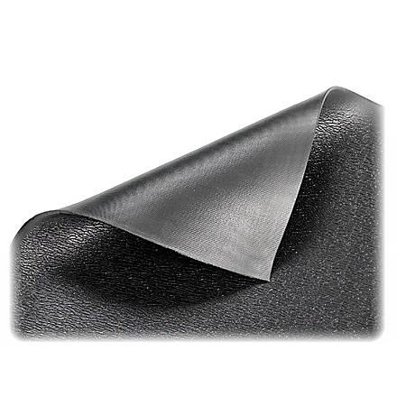 Genuine Joe Soft Step Anti-Fatigue Mat, 3' x 10', Black