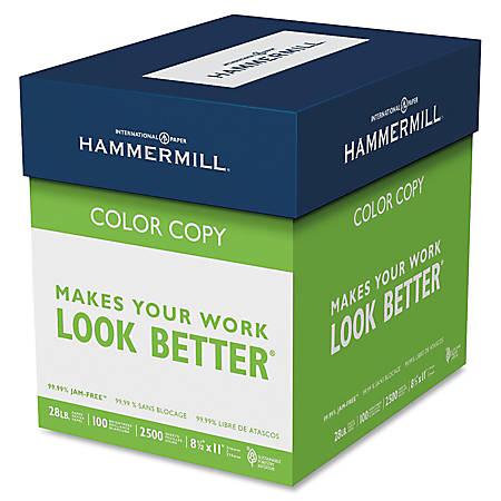 """Hammermill® Color Copy Paper, 8 1/2"""" x 11"""", 28 Lb, Case Of 5 Reams"""