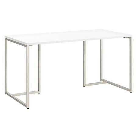 "kathy ireland® Office by Bush Business Furniture Method Table Desk, 60""W, White, Premium Installation"