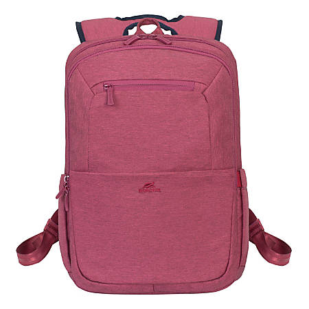 """RIVACASE Suzuka 7760 Backpack With 15.6"""" Laptop Pocket, Red"""