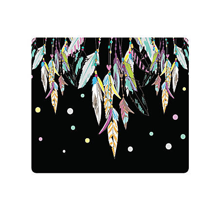 "OTM Essentials Mouse Pad, Dream Catcher, 10"" x 9.13"", Black, PV1BM-HIP-09"