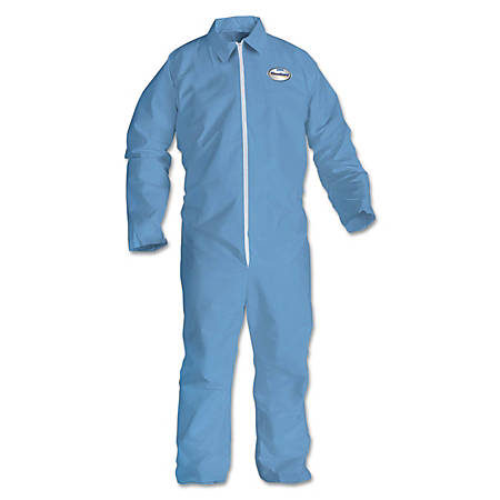 Kimberly-Clark® Professional KLEENGUARD A65 Flame-Resistant Coveralls, 4X, Blue, Pack Of 21 Coveralls