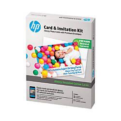 HP Advanced Photo Paper Card Invitation
