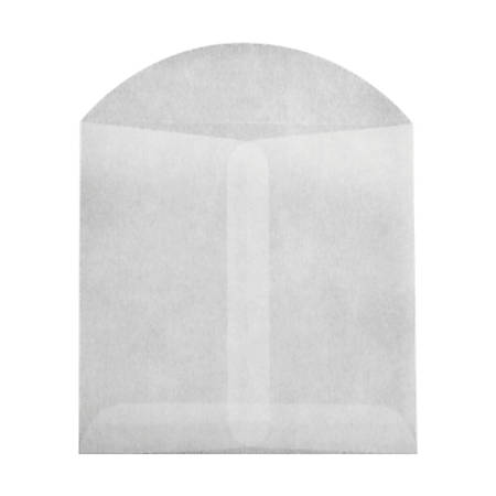 "LUX Open-End Envelopes With Flap Closure, 4"" x 4"", Glassine, Pack Of 10"
