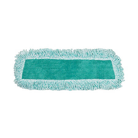 """Rubbermaid® Microfiber Cut-End Dust Mop Heads With Fringe, 18"""" x 5"""", Green, Case Of 12"""