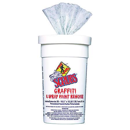 Itw Dymon Scrubs Graffiti Spray Paint Remover Towels Box Of 30 Item 652655
