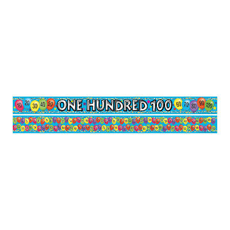"Barker Creek Double-Sided Straight-Edge Border Strips, 3"" x 35"", Count To 100, Pack Of 12"