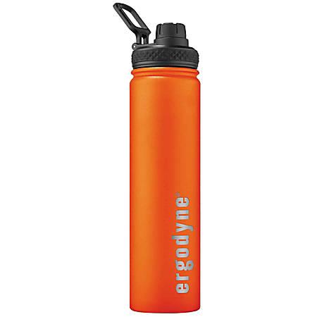 Ergodyne Chill-Its 5152 Insulated Stainless Steel Water Bottle, 25.36 Oz, Orange