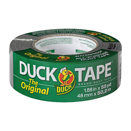 """Duck® Duct Tape, 1.88"""" x 55 Yd., Silver"""