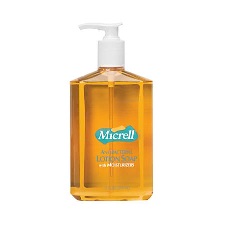 Gojo® Micrell Antibacterial Lotion Soap, Fresh Scent, 12 Oz, Case Of 12