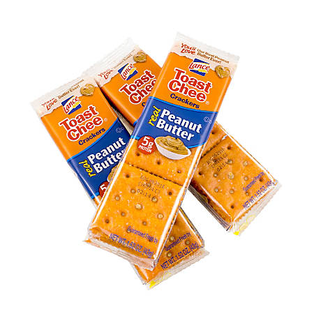 Lance Toast Chee Peanut Butter Crackers, Pack of 6, Box Of 40