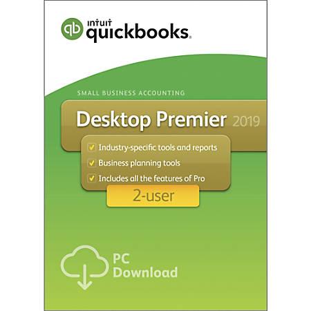 QuickBooks® Desktop Premier 2019, For 2 Users, Download Item # 6529547