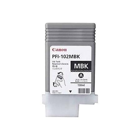 Canon PFI-102MBK Original Ink Cartridge - Inkjet - Matte Black - 1 Each