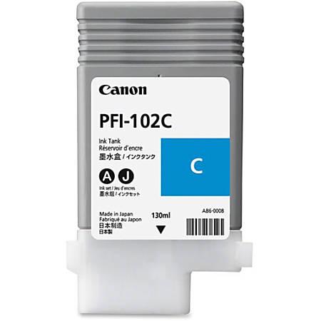 Canon PFI-102C Original Ink Cartridge