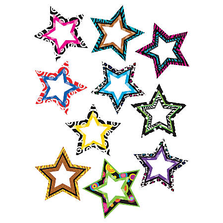 Teacher Created Resources Decorative Accents, Fancy Stars, Multicolor, Pre-K - Grade 8, Pack Of 30