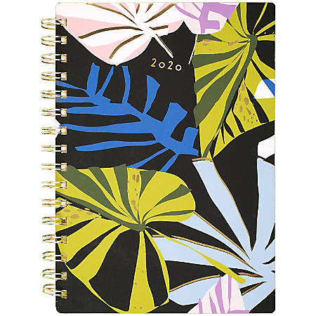 "AT-A-GLANCE® Lillian Farag Weekly/Monthly Planner, 5-1/2"" x 8-1/2"", Paper Palms, January To December 2020, 5325-200"