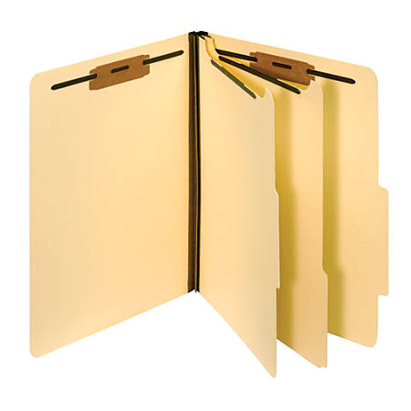 Pendaflex® Top-Tab Manila Classification Folders With 2 Dividers, Letter Size, Box Of 10 Folders