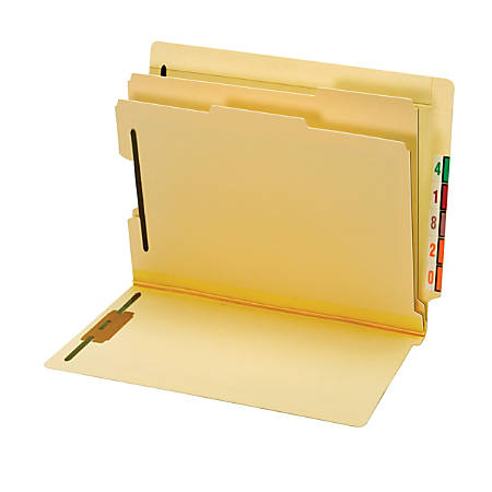 Pendaflex® End Tab Classification Folders, Letter Size, Manila, Box Of 10 Folders