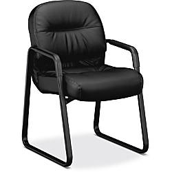 HON Pillow Soft Leather Guest Chair