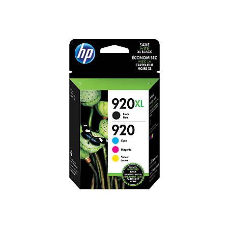 HP 920 Black/Cyan/Magenta/Yellow Ink Cartridges, Pack Of 4 (N9H61FN#140)