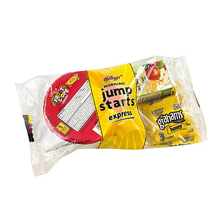 Kellogg's Jump Start Express, Froot Loops, Apple Juice And Grahams, Pack Of 44