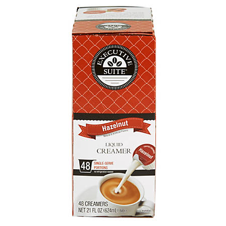 Executive Suite® Hazelnut Liquid Coffee Creamers, 0.38 Oz, Box Of 192 Creamers