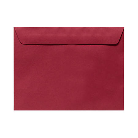 """LUX Booklet Envelopes With Moisture Closure, 6"""" x 9"""", Garnet Red, Pack Of 500"""
