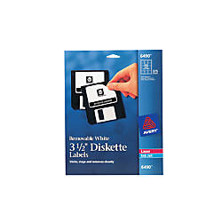 Avery Removable InkjetLaser Diskette Labels 6490