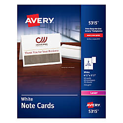 Avery Laser Note Cards 4 14