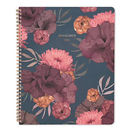 """AT-A-GLANCE® Dark Romance 13-Month Weekly/Monthly Planner, 8-1/2"""" x 11"""", Multicolor, January 2020 To January 2021"""
