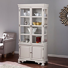 Southern Enterprises Paddington Curio Cabinet Warm