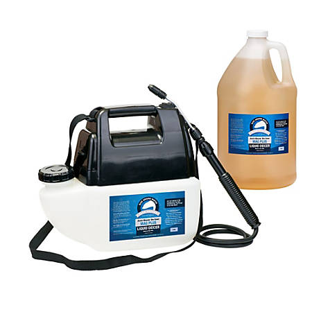 Bare Ground Liquid De-Icer, Inhibited MagPlus With Battery-Operated Sprayer, 1 Gallon