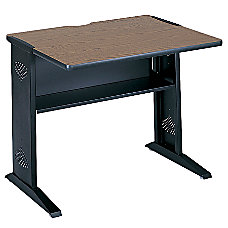 Safco Reversible Top Computer Desk MahoganyMedium
