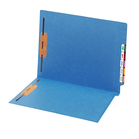 Pendaflex® Shelf-Master Color Folders With Fastener, Letter, Blue, Box Of 25 Folders