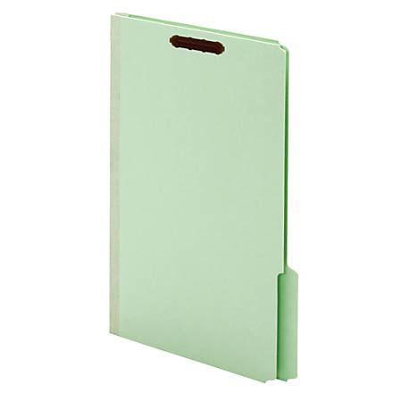 Pendaflex® End Tab Classification Folders, 100% Recycled, Legal Size, Light Green, Box Of 25